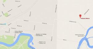 Moama Waters Caravan Park DWP map