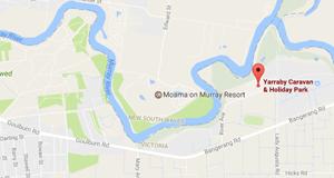 Yarraby Caravan & Holiday Park - Echuca map